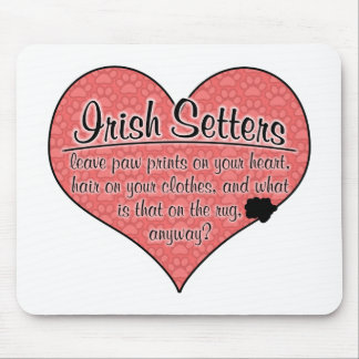 Irish Setter Paw Prints Dog Humor Mouse Pad