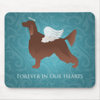 Irish Setter Pet Memorial Angel Dog Design Mouse Pad