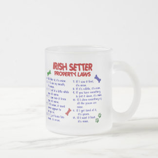 IRISH SETTER Property Laws 2 Frosted Glass Coffee Mug