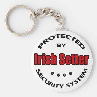 Irish Setter Security Basic Round Button Keychain