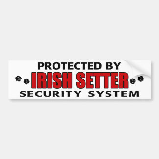 Irish Setter Security Car Bumper Sticker