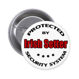 Irish Setter Security Pinback Button