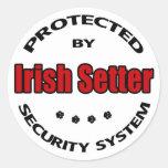 Irish Setter Security Stickers