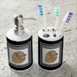 Irish Setter Soap Dispenser And Toothbrush Holder