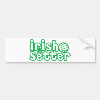 Irish Setter Volleyball Design Bumper Sticker