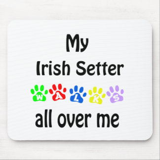 Irish Setter Walks Design Mouse Pad