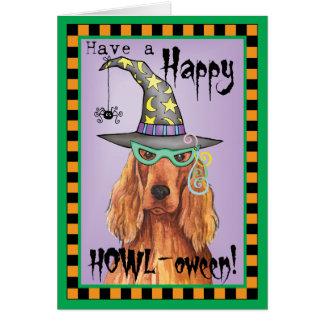 Irish Setter Witch Greeting Card