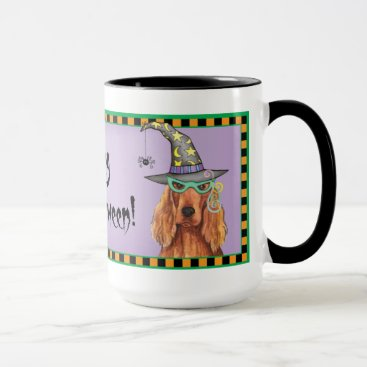 Halloween Themed Irish Setter Witch Mug