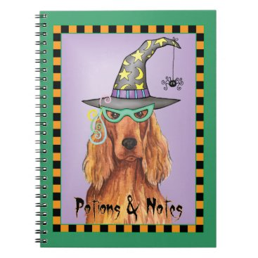 Halloween Themed Irish Setter Witch Notebook