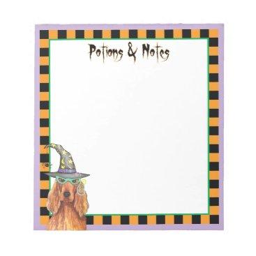 Halloween Themed Irish Setter Witch Notepad