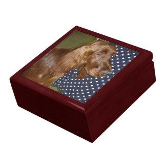 Irish Setter Wooden Giftbox Gift Box