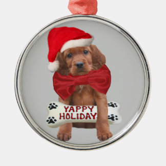 Irish Setter Yappy Holidays Ornaments