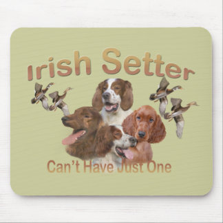 Irish Setters Can't Have Just One Gifts Mouse Pad