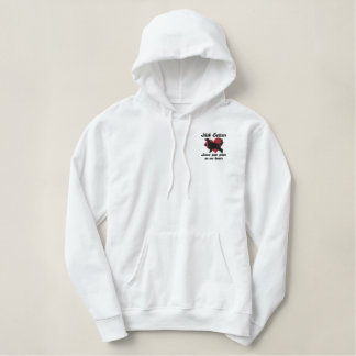 Irish Setters Leave Paw Prints Embroidered Hoodie