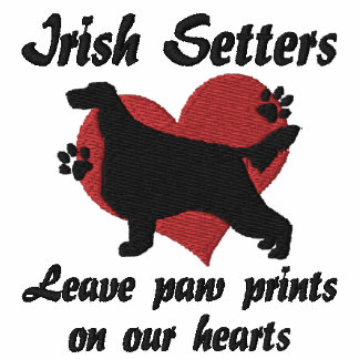 Irish Setters Leave Paw Prints Hoodie