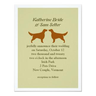 Irish Setters Wedding Invitation