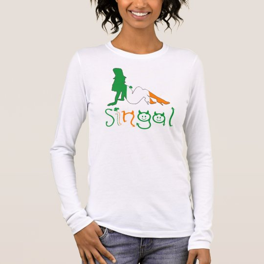 Irish sexy women's long sleeve T-Shirt