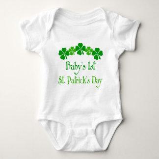 Irish Shamrock 1st St Patricks Day Baby Tee