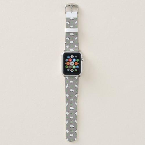 Irish Shamrock and Sheep Pattern Apple Watch Band