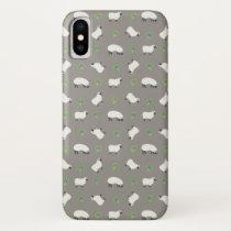 Irish Shamrock and Sheep Pattern iPhone XS Case