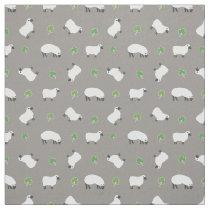 Irish Shamrock and Sheep Pattern Fabric