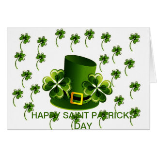 Irish Shamrock Art Greeting Cards