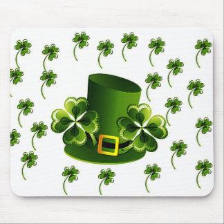 Irish Shamrock Art Mouse Pad