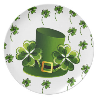 Irish Shamrock Art Dinner Plates