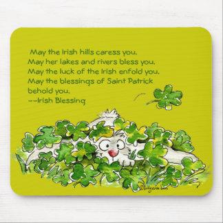 Irish Shamrock Blessing St. Patricks Day Mousepad