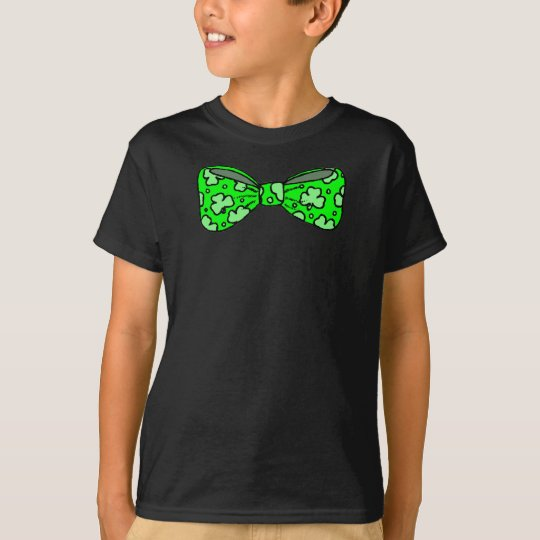 Irish Shamrock Bow Tie T-Shirt