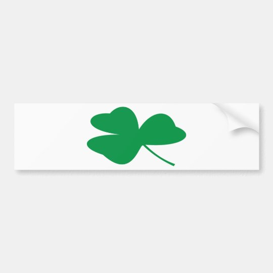 Irish Shamrock Bumper Sticker