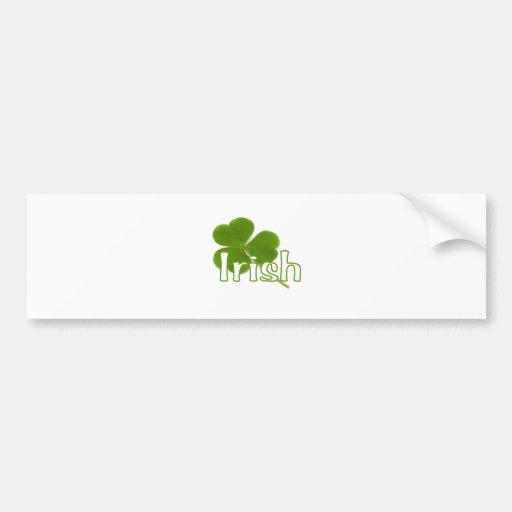 Irish Shamrock Bumper Sticker