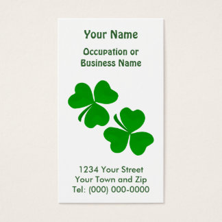 Irish Shamrock Business card