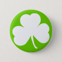 Irish Shamrock Button
