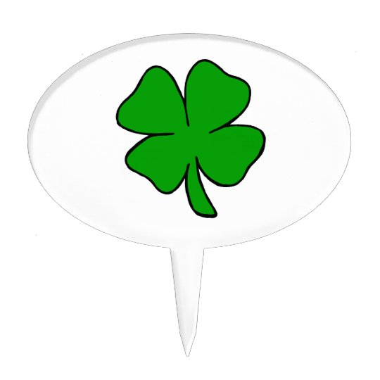 Irish Shamrock Cake Topper