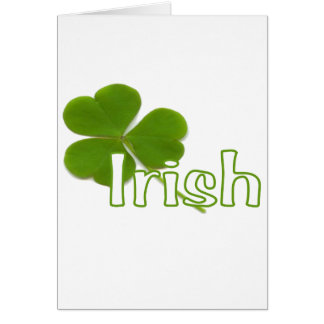 Irish Shamrock Card