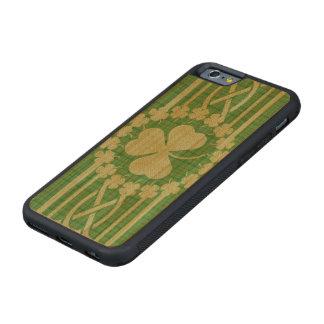 Irish Shamrock Celtic Carved Cherry iPhone 6 Bumper Case