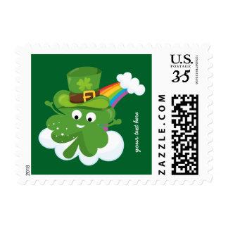 Irish Shamrock * choose your background color Postage