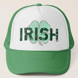 Irish Shamrock Clover Distressed St Paddys Day Hat