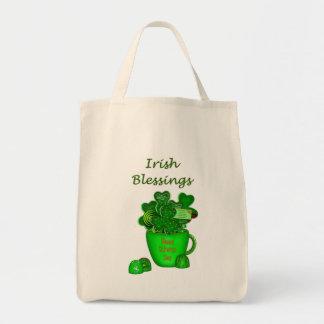 Irish Shamrock Cookie Bouquet-Grocery Tote