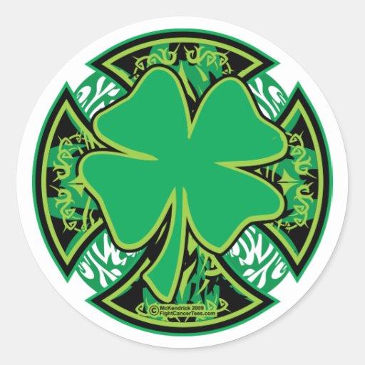 Irish Shamrock Cross Sticker