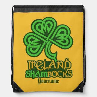 Irish Shamrock custom bag Cinch Bag