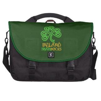 Irish Shamrock custom laptop bags