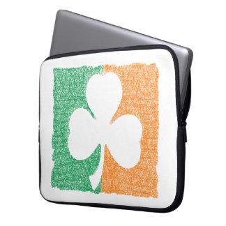 Irish Shamrock custom laptop sleeve