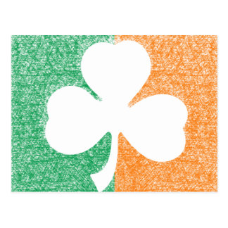 Irish Shamrock custom postcard