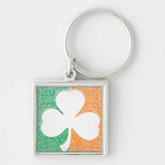 Irish Shamrock custom premium key chain