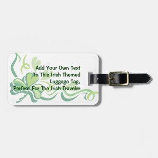 Irish Shamrock Customizable Luggage Tags