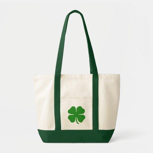 Irish Shamrock Design Impulse Tote Bag