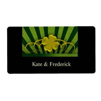 Irish Shamrock  designer labels