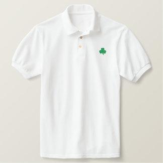Irish Shamrock Embroidered Shirt